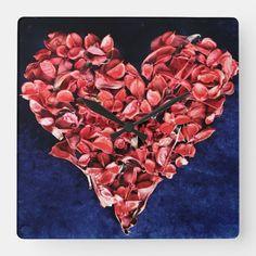 Love Rose, Face Design, Romantic Love, Interesting Faces, Wall Clocks, Rose Petals, Artwork, Red, Prints