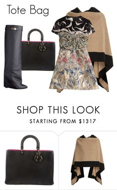 """""""Tote Bag"""" by charlotte-shuann ❤ liked on Polyvore featuring moda, Christian Dior, Burberry, Valentino, Givenchy, women's clothing, women, female, woman y misses"""