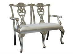Chippendale 2 Seater Silver Measurements 1300 x 530 x 1020