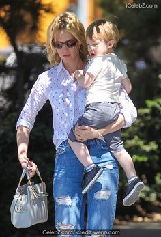 January Jones takes son Xander to lunch at Houston's restaurant before grocery shopping in Pasadena photo gallery Houston Restaurants, January Jones, Designer Dresses, Sons, Photo Galleries, Celebrity, Lunch, Events, Women's Fashion
