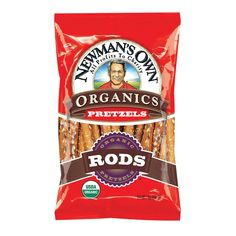 Newman's Own Organics Salted Pretzel Rods - Organic - Case Of 12 - 8 Oz.