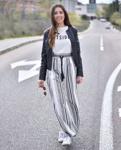 luciahperis W e e k e n d | pic by @claudiahperis #ootd #madrid #style #weekend #saturday #fashion #look #topshop #whitetrainers #outfitoftheday #mango #tshirt #lefties #leatherjacket #zara #trousers #spanishfashion #modaespañola #fashionphotography #photography #nofilter