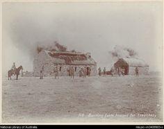 Burning farm houses for treachery