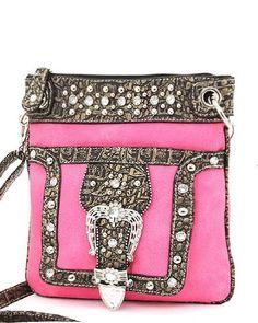 Hot Pink Western Rhinestone Buckle Crocodile Hipster Cross Body Purse Handbag Incorporated http://www.amazon.com/dp/B006P4B08G/ref=cm_sw_r_pi_dp_ef.9tb0H8YNJC