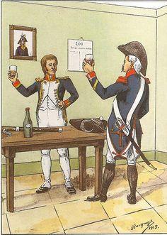 French; 8th Line Infantry, Musician, Grande Tenue & Grenadier Sergeant, tenue de Ville 1803