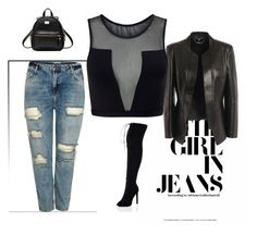 """""""Boyfriend Jeans contest"""" by empathetic ❤ liked on Polyvore featuring Alexander McQueen, River Island, Varley and SpyLoveBuy"""