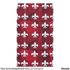 Fleur de lis,vintage,french victorian, red silk tablecloth