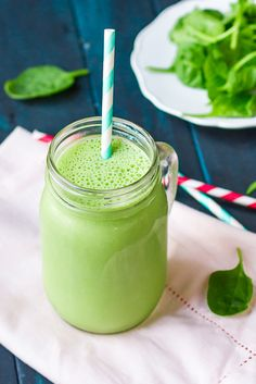 PB2 & Banana Green Protein Smoothie