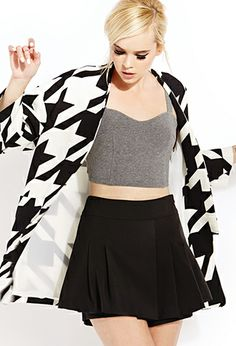 Bold Houndstooth Coat | FOREVER21 - 2000062607 love this jacket!