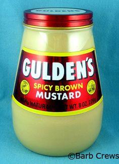 Advertising Cookie Jars: Gulden's Mustard Advertising Cookie Jar