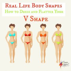 Real life body shapes V shape - how to dress and flatter