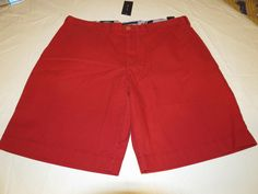 Men's Tommy Hilfiger 42 Classic Fit shorts 946 Chili Pepper 7880825 casual TH #TommyHilfiger #shorts