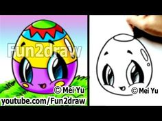 Kawaii - Easy Cute Things to Draw for Beginners - Easter Egg