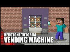 Minecraft: Working Vending Machine! - YouTube