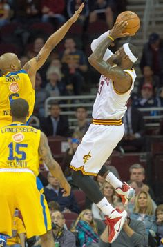 "LeBron James made his preseason debut in the ""Heart of a Lion"" Nike LeBron 12"