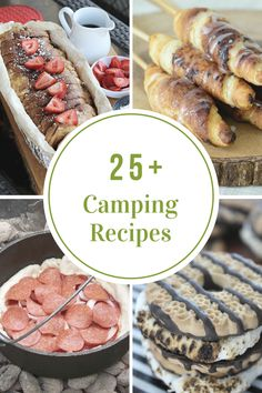 This year it's time to branch out a bit from the Hot Dogs and S'mores. I really can't believe how many simple Camping Recipes I found while searching the web. Our family is definitely going to be making some of these this summer.