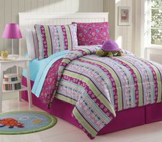 With Love Home Decor - Girls Kids Bedding - Reversible Khloe Bed in a Bag Multi-Color, $75.50 (http://www.withlovehomedecor.com/products/girls-kids-bedding-reversible-khloe-bed-in-a-bag-multi-color.html)