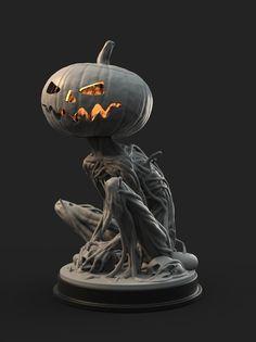 Pumpkin Monster 3D Print 161754