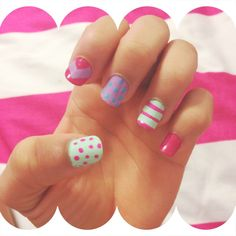 Easy DIY nails with tape