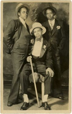 Vintage Photo African American Men