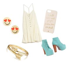 rielle's ootd #2 by havenwest on Polyvore featuring Current/Elliott, Jeffrey Campbell, Kate Spade and Bling Jewelry