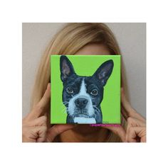 Bacchus the Boston Terrier Custom Pet Portrait by PopArtPetPortraits on Etsy, $65.00