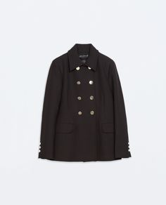Image 5 of DOUBLE-BREASTED SHORT COAT from Zara