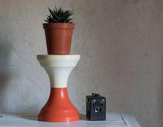 Mid Century Stool, Plant Stand, Iconic Tam Tam Design by Henri Massonnet