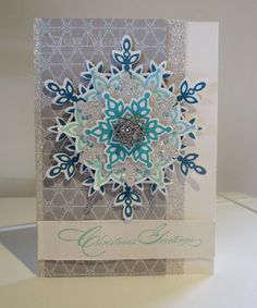 stampin up festive flurry ornament | took my colour scheme (and that piece of patterned paper) from the ...
