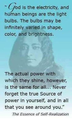Never forget the true source of power within yourself ~ Paramahansa Yoganand Positive Vibes Only, Positive Quotes, Spiritual Awakening, Spiritual Quotes, Yogananda Quotes, Spiritus, Self Realization, Verse, Spiritual Inspiration
