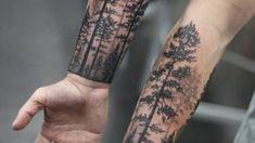tattoo hd, cute tattoos on the shoulder, white ink tattoo art … - Flower Tattoo Designs Forest Tattoo Sleeve, Nature Tattoo Sleeve, Forest Tattoos, Tattoo Nature, Tree Tattoo Sleeves, Guy Sleeve Tattoos, Dark Forest Tattoo, Tattoo Sleves, Forarm Sleeve Tattoo