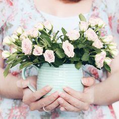 Morgeeeeen! Schaut mal was ich gestern bei @nettomarkendiscount entdeckt habe: Mini-Rosen. MINI-ROSEEEEEN!  Und sie passen perfekt in meine @tchibo Tasse (und zu meinem Kleid ). Ist das nicht ein Dream Team?! Ich wünsche euch einen traumhaften Freitag ihr Lieben   #alittlefashion #lifestyle #blogazine #friyay #tgif #almostweekend #flowers #flowerpower #flowersofinstagram #flowergram #photooftheday #photography #summer #roses #rosesofinstagram #roseoftheday #tchibo #blogger_de #germanblogger…
