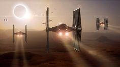Tie Fighter Attack - Jakku - Star Wars - The Force Awakens Portfolio…