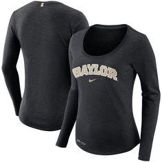 Baylor Bears Nike Women s Team Slub Long Sleeve Performance T-Shirt -  Heathered Black - bd7f9c02b