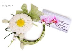 "Bracelet ""Daisies"" - Author's handmade jewelry Julia Galushchak"