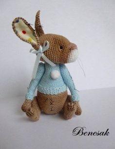 Josephine crocheted miniature rabbit by Benesak