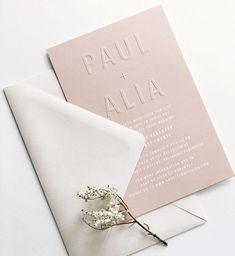 Happy Monday ❁ sharing these blush blind embossed beauties designed for Alia + Paul . Wedding Stationery Trends, Letterpress Wedding Invitations, Modern Wedding Invitations, Wedding Stationary, Wedding Invitation Cards, Wedding Cards, Wedding Events, Stationery Design, Invites