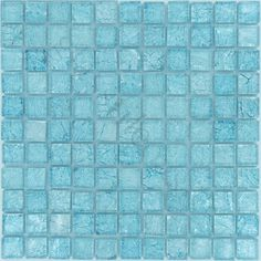 """ISI  Folia 1""""x 1"""", 1"""" x 1"""", Sea Mist, Glossy, Blue, Glass  This is pretty for accent tile."""