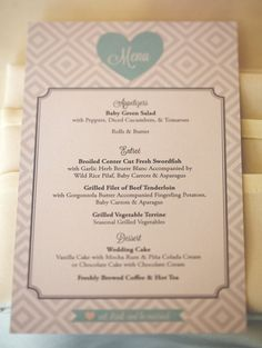 Effortlessly Chic Menu printable by hgraphic shop on Etsy, $35.00