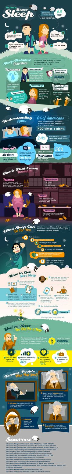 The Secret to Better Sleep Infographic