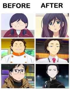 OMG I LOVE ALL THREE ANIMES ;) First one is Silver Spoon (soo funny and relaxing and amazingly interesting food topics) second one below is Food Wars (Pretty cool cooking ways and nice overall) and last one YURI ON ICE ;) Can't be about sports it's Anime Meme, Otaku Anime, Manga Anime, Cartoon As Anime, Anime Expo, Anime Stuff, Anime Crossover, Noragami, All Out Anime
