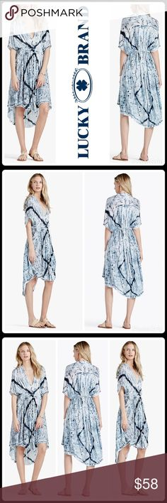 RESORT CAFTAN/DRESS ▪️Easy-fit dress boasts a light and airy fabric with beautiful tie-dye stripes ▪️V-neckline with button front ▪️Short flutter sleeves ▪️Back tie waist detail creates a flattering cinch ▪️High-low hemline ▪️Body: 100% viscose