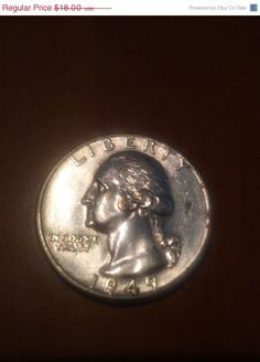 1949D silver quarter BU by DrewsCollectibles on Etsy, $16.20