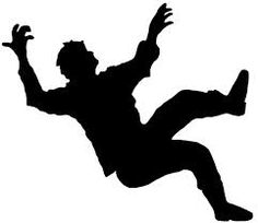 silhouette falling - Google Search