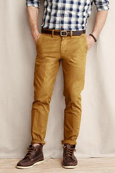 Mustard Chinos by Lands' End. Buy for $24 from Lands' End