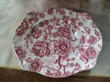 Johnson Brothers/England...English Chippendale Meat Platter........Burgundy/Rose