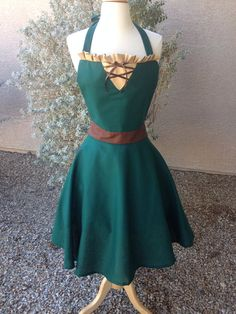 Merida adult apron dress by AJsCafe on Etsy