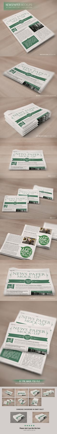 NEWSPAPER MOCK-UP FREE on Behance