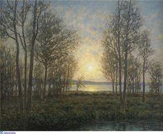 Per Ekström (1844-1935): Solens strålar genom träden – Öland