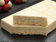 Turrón de chocolate blanco crujiente   Recetas Thermomix   MisThermorecetas